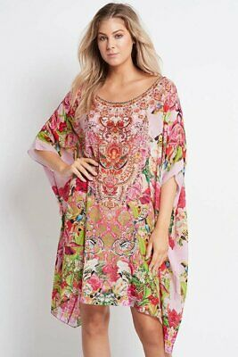 AU206 • Buy Czarina  Every Flower Blossoms  Round Neck Short Kaftan