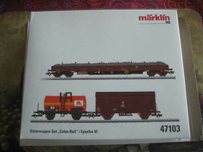 AU198.52 • Buy Marklin H0 47103 SNCF  Colas Rail  Freight 3 Car Set In Its Original Box-Era VI