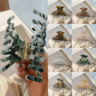 AU5.29 • Buy Women Multicolor Barrette Acrylic Hair Clip Acetate Large Hair Claws Accessories