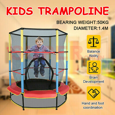 AU99.07 • Buy 4.5FT Kids Trampoline Enclosure Pad Safety Net Jumping Bed Outdoor Indoor Gift