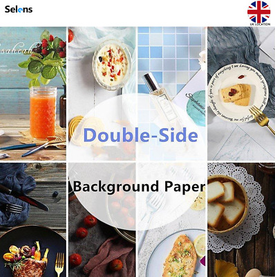 Morandi Color Double-sided Backdrop Paper Food Product Photo Props Background • 1.99£