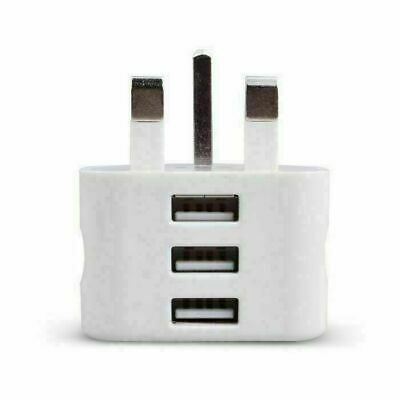 £4.99 • Buy 3 Ports USB Wall Charger Mains Power UK Plug Adapter For IPad IPhone Samsung 3A