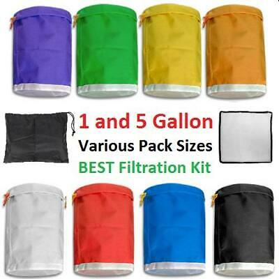 £26.50 • Buy Filtration Bubble Bags Bag Hydroponic Grow Herbal Ice Extract Kit Set Gallon 1 5