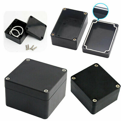 £4.65 • Buy ABS Black Plastic Electronics Project Box Enclosure Hobby Case Cover With Screw