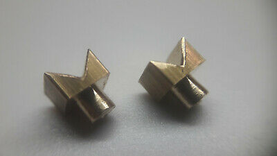 £26.90 • Buy LENCO Home Made Brass V-Block (pair) For L75 / L78 / B55 And Other Turntables
