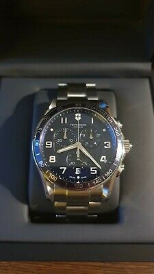 £350 • Buy Victorinox Chrono Classic XLS 241652 Watch Blue Face Stainless Steel Ex Cond.