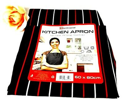 Chefs Apron With Pockets, BBQ, Baking & Catering Apron For Men Women Ladies • 4.79£
