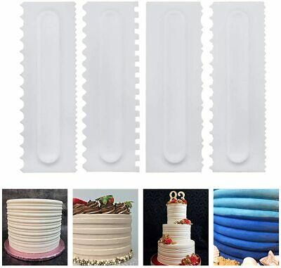 £2.99 • Buy Cake Smoother Edge Icing Scrapers Cutters Tool Set Buttercream Baking Decorating