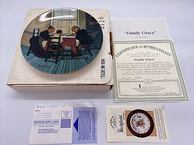 $ CDN25.37 • Buy Norman Rockwell Collector Plate  Family Grace  Edwin Knowles Collectible COA