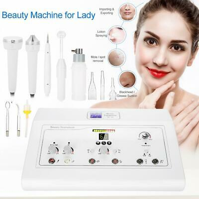 5in1 High Frequency HF Galvanic Vacuum Spray Facial Beauty Machine Device SPA • 170.66£
