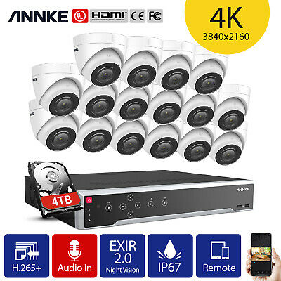 ANNKE 32CH 12MP H.265+NVR Onvif CCTV Dome 4K Video IP Camera POE System IP67 UK • 2,019.99£