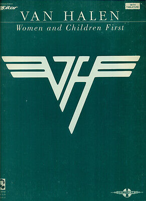 Van Halen Songbook Women & Children First Guitar Tablature Tab Music Book Eddie • 32.28£
