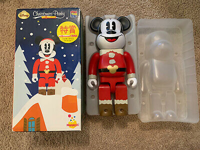 $300 • Buy Authentic Bearbrick BE@RBRICK 400% Disney Christmas Party Mickey Mouse Santa
