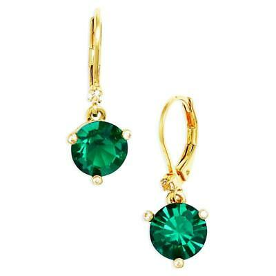 $ CDN39.54 • Buy NWT Kate Spade Rise And Shin Leverback Drop Earrings $48 Emerald Green Gold