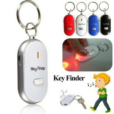 Key Finder Anti-Lost Whistle Find Locator Keychain Sound Control LED Torch Flash • 2.20£