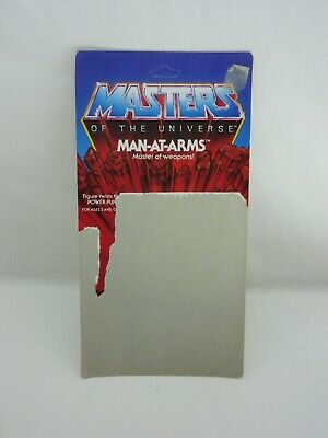 $60 • Buy MOTU,Vintage,MAN-AT-ARMS CARD BACK,8 BACK,Masters Of The Universe,He Man