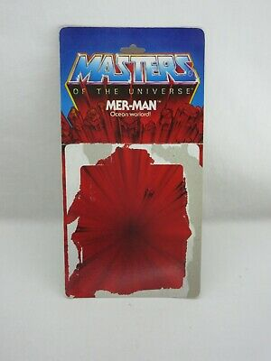 $75 • Buy MOTU,Vintage,MER-MAN CARD BACK,8 BACK,Masters Of The Universe,He Man