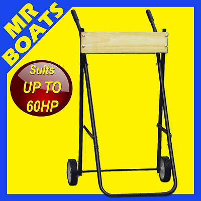 AU85 • Buy Outboard Trolley - X-large - H-duty Boat Motor Stand Bracket Rated To 60hp 100kg