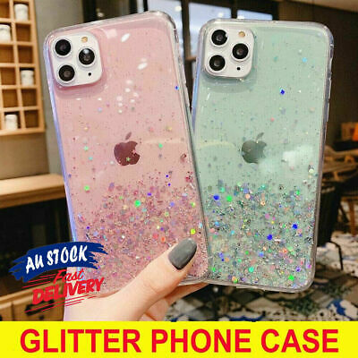 AU6.98 • Buy Case For IPhone 12 Pro 11 Pro Max Xs X 8 Gel Glitter Cover Clear Shockproof CAS#