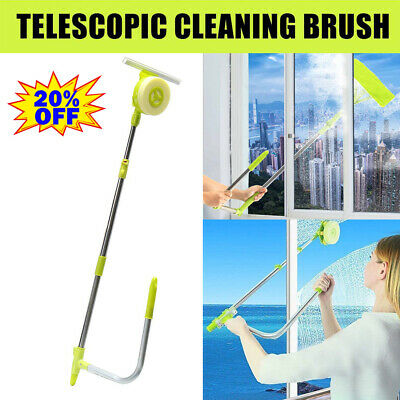 3m Telescopic Window Cleaner Cleaning Kit Extending Wash Head Squeegee • 22.07£