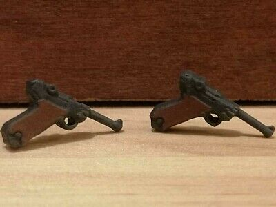 Playmobil Compatible X2 Luger P08 WW2 German Pistol Handgun • 2.25£