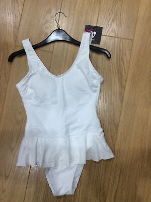 Sale Textured White Skirted Swimsuit Size 10 • 3.90£