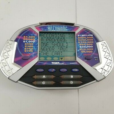 £10.64 • Buy Who Wants To Be A Millionaire Handheld Electronic Game Tiger 2000 Tested Works