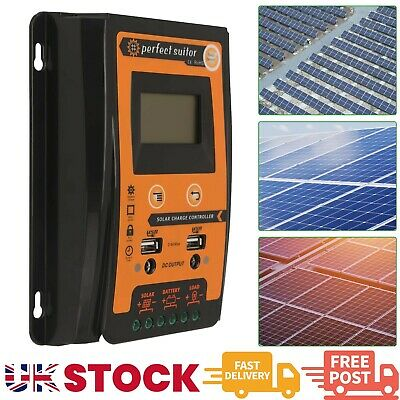 12/24V 30A MPPT Solar Charge Controller Panel Battery Regulator LCD Display UK • 19.69£