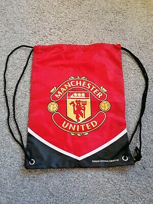 Manchester United FC Man Utd Red Gym PE Bag Sports School Drawstring Rucksack  • 6.89£