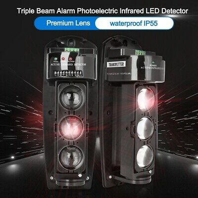 £31.74 • Buy Wireless Triple Beam Alarm Home Security System LED Infrared Sensor Detector