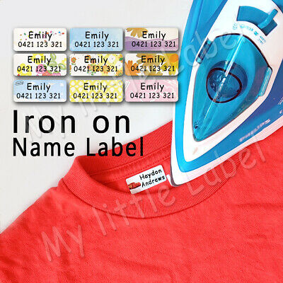 AU5.99 • Buy Mixed Pattern Personalised Iron On /sew On Label Clothing Name Labels 30x13mm