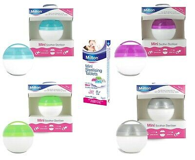 Milton Mini Portable Soother Pacifier Dummy Steriliser Or Tablets • 3.85£
