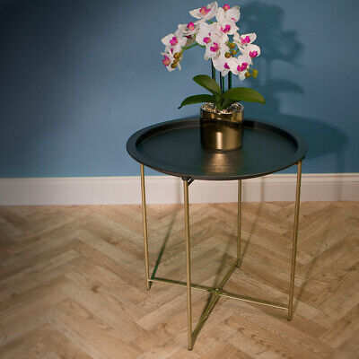 Loft Range Metal Round Table With Folding Legs - Brand New • 24.99£