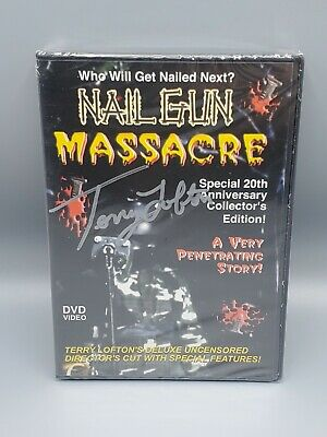 Nail Gun Massacre (DVD) 20th Anniversary 382/500 Terry Lofton Autographed NEW • 110.86£