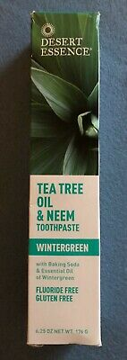 Natural Tea Tree Oil And Neem Toothpaste, Wintergreen 176g 6.25 OZ Fluoride Free • 7.99£