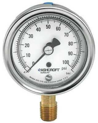 $57.89 • Buy Ashcroft 351009Aw02l15# Gauge,Pressure,0 To 15 Psi,3-1/2 In.