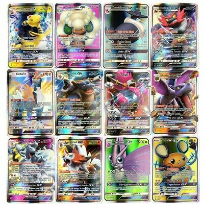 AU16 • Buy Pokemon Cards 50 Bulk Lot GX/EX/V/Vmax + 9 Rare/shiny - Great Gift!
