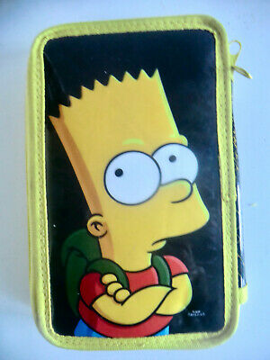 £5.99 • Buy Bart Simpson  Who Wants To Know?  Fold-out Pencil Case (half Full)