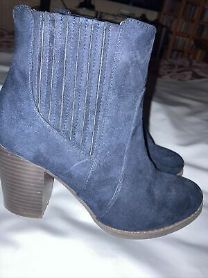 £15 • Buy Navy Red Herring Ankle Boots Size 4(37) Wide Fit