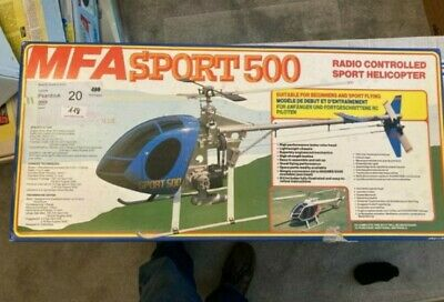 Brand New Vintage MFA Sport 500 Radio Controlled Sport Helicopter, 106 Cm Long.  • 667.10£
