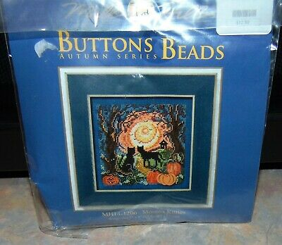 $14.99 • Buy Mill Hill Moonlit Kitties Buttons And Beads Autumn Series Pumpkins MH141206