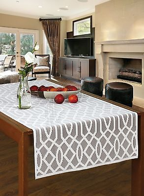 Rectangular White, Lace Tablecloth / Table Runner NEW 60 X 140 Cm (24  X 55 ) • 9.99£