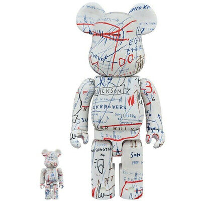 $400 • Buy Medicom BE@RBRICK Jean-Michel Basquiat #2 100% 400% Bearbrick Figure Set