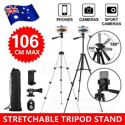 AU15.95 • Buy Adjustable Camera Tripod Mount Stand Holder For IPhone Phone Universal