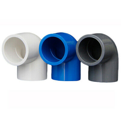 £1.85 • Buy PVC 16mm-200mm ID Equal Water Supply Pipe Elbow Fittings Adapter Connector