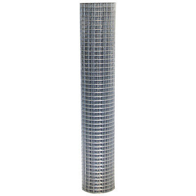 Welded Wire Mesh Roll 1.2m X 30m Steel 25mm 1  Hole Garden Fencing 19 Gauge • 53.99£