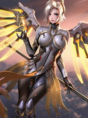 AU5.51 • Buy HOT Game Overwatch Sexy Mercy  D.VA Poster Printing 40x60 PP