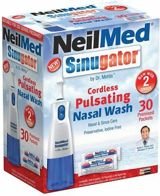 NeilMed ® SINUGATOR Cordless Nasal Wash With 30 Premix Packets  -*FREE FAST POST • 23.85£
