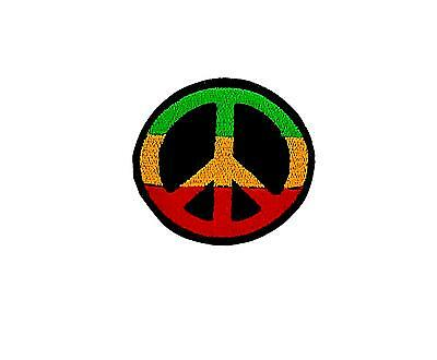 Patch Embroidered Thermoadhesive Backpack Rasta Reggae Ethiopia Lion Peace • 2.60£