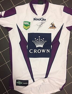 AU599 • Buy Cam Smith  Signed Melbourne Storm Player Jersey 2013 Issue Qld Origin Broncos